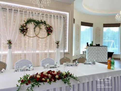 dekoracja sali Leszczynowy dworek